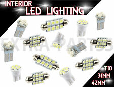 14PCS White LED Lights Interior Package for T10 & 31mm Map Dome + License Plate