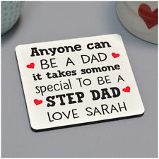 Personalised Christmas Birthday Gifts for Stepdad Him Tea Coffee Drinks Coaster