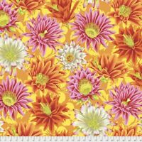 Cactus Flower - Yellow by Kaffe Fassett for FreeSpirit 1/2 Yard Cotton Fabric