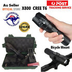 New CREE Q5 LED Bike Bicycle Front Head Light Headlight Rechargeable Battery