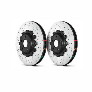 DBA Front 5000 Drilled Slotted Brake Rotors Pair For Nissan 370Z Sport/G37 Sport