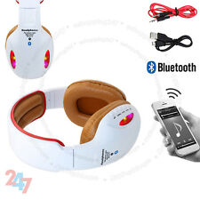 Wireless Bluetooth 4.2 Headset Stereo Orange Headphone With Built in MIC S247