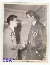 James Stewart shakes Tony Curtis' hand VINTAGE Photo candid 1948
