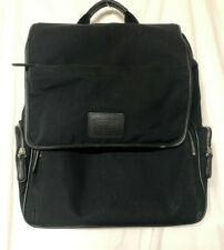 Coach Black Backpack Leather Trimmed Nylon Backpack