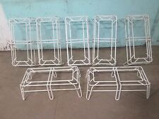 LOT OF 7 HD COMMERCIAL DISPLAY AISLE OPEN DBL WIDE WIRE MICRO DUNNAGE RACK/STAND