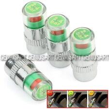 Set 4pz Tappi Coprivalvola 36 PSI Misuratore Indicatore Pressione Pneumatici