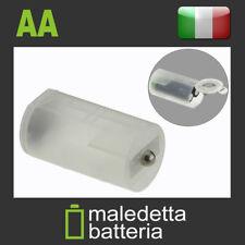 Adattatore per Pile trasforma 2 Batterie AA Stilo in una Batteria D Torcia