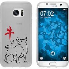 Case für Samsung Galaxy S7 Edge Silikon-Hülle Tierkreis Chinesisch M2 Cover