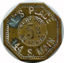Al's Place 144 S. Main Decatur, Illinois IL 5¢ Trade Token 1933-1935