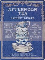 New 30x40cm Ladies' Lounge Afternoon Tea large metal advertising wall sign