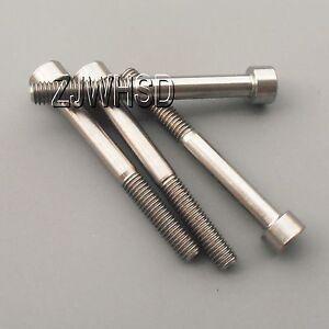 4pcs M6 x 55 Titanium Ti Screw Bolt Allen hex Socket Cap head / Aerospace Grade