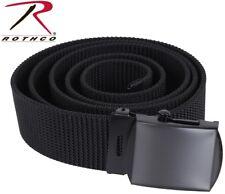 "Black Military Web Belt Nylon Military Belt Cut To Fit 1.25"" W Rothco 4242, 4241"