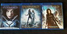 Underworld 3 movies Underworld Evolution, Rise Of The Lycans, Awakening Blu-ray