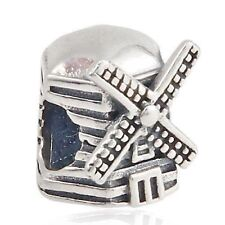 Windmill Charm Bead 925 Sterling Silver