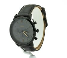 Fossil Neutra Men's 44mm Gray Dial Brown Leather Strap Chronograph Watch FS5579