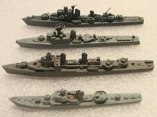 4 Vintage Old Toy Metal Model Wwii Battleships Restigouche Halland Riga Gearing