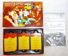 """CONTRARIO"" FOX/MIND TWISTED LOGIC CARD GAME FOR 2+ - PARTY GAME or TRAVEL GAME"
