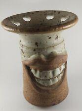 Art Pottery Figural Funny Face 6 Toothbrush/Utensil Holder