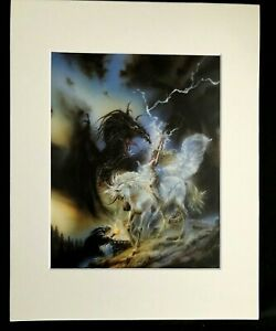 """""""Memory in White"""" by Luis Royo 1993 11 x 14  Matted Print-Fantasy Sci-Fi"""