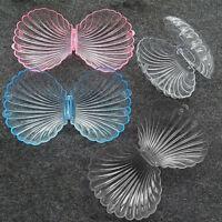NE_ Transparent Seashell Jewelry Necklace Bracelet Storage Organizer Box Case So