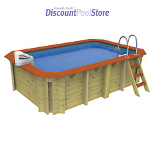 Wooden Exercise Pool Kit with AquaJet Counter Current Unit for Endless Swimming
