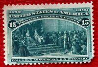 1893 US SC#238 15c Columbus Announcing his Discover Mint CV:200
