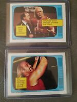 1985 Topps HULK HOGAN Rookie #60, #57 Lot plus mean gene