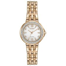Citizen Eco-Drive Women's Diamond Accents Rose Gold 28mm Watch EM0443-59A