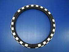 """15""""38cm Silicone Black/White Checkered Style Vehicle Car Steering Wheel Cover"""