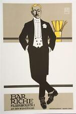 Bar Riche Vintage Fashion Poster Fine Art Lithograph Hans Rudi Erdt S2