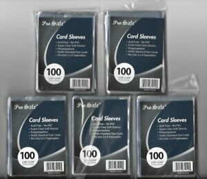 2000 SOFT SLEEVE CARD SLEEVES CARD PROTECTORS CRYSTAL CLEAR FREE SHIPPING