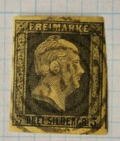 Germany Prussia sc#5 mi#4 yellow used 3sg SOTN postmark bullseye cancel
