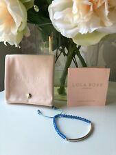 Lola Rose Bishop's Rd Sterling Silver Bangle Bar Friendship Bracelet Blue Agate