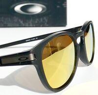 NEW* Oakley LATCH Matte Black w Fire Iridium Lens Sunglass oo9349-04