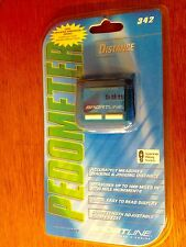 NEW IN PACKAGE SPORTLINE PEDOMETER STEP & DISTANCE  PEDOMETER 342
