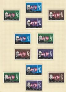 OMNIBUS  1965/7  CHURCHILL  33 DIFFERENT SETS (132 stamps) - MNH
