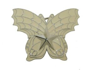 Butterfly Belt Buckle High Quality Cowgirl Metal Western Rodeo Off White Color