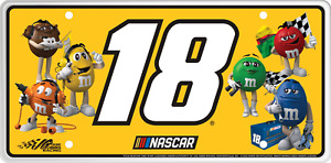 #18 Kyle Busch M&M Souvenir License Plate RS1820D