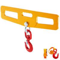 Forklift Hook Forklift Hoist Swivel Hook 24 x 6 Inch, 4400lbs Steel Hook Plate