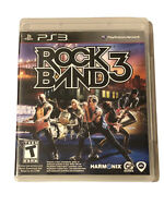 Rock Band 3 (Sony PlayStation 3, 2010) - Manual Included