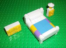 LEGO Friends Furniture Bed Bedroom Set Purple Light Blue 4MOC 41101 3185 3315