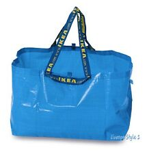 NEW IKEA BRATTBY SMALL 3.5 GALLON BLUE SHOPPING TOTE BAGS FREE SHIPPING