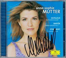 Anne-Sophie MUTTER Signiert DUTILLEUX Sur le meme accord BARTOK STRAVINSKY Masur