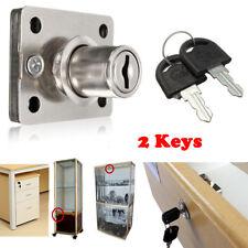 Cam Lock w/ 2 Keys For Office Furniture Cabinet Cupboard Door Drawer Mailbox