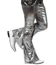 Pantalon Déguisement Disco ARGENT XS/S Costume Homme Femme Années 1980