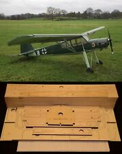 "140"" wing span Fieseler Fi-156 Storch R/c Plane short kit/semi kit and plans"