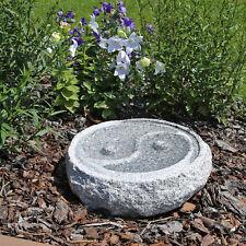 CLGarden Vogeltränke M2 Yin Yang aus Granit Naturstein Stein Garten Vogelbad
