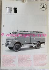 331: Mercedes-Benz TLF 16 Feuerwehrautos 69 - Prospekt, Automobilia, Broschüre
