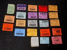 22 VINTAGE 1950'S-80'S NEW JERSEY HUNTING & FISHING LICENSES FREE SHIPPING