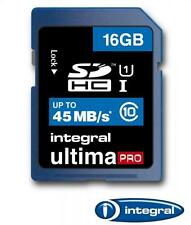 16GB Integral Ultima Pro SDHC 45MB/sec CL10 High-Speed (UHS-1) memory card